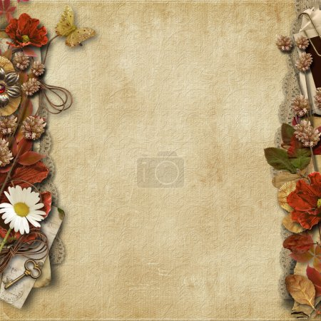 Background with  floral border