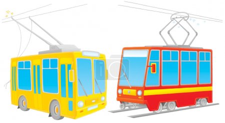 Two rail cars, on a white background....