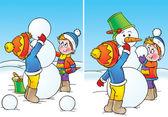 Kluci uvedení konečné dotýká sněhulák