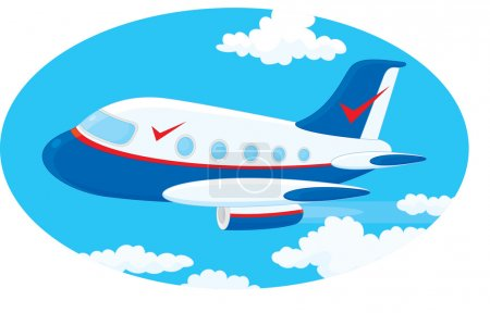 Illustration for Illustration of a commercial airliner jet in the sky. - Royalty Free Image