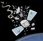 Satellite crashing down