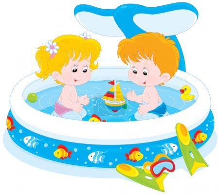Children in a kids pool