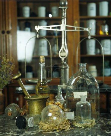 Still life: old medicine