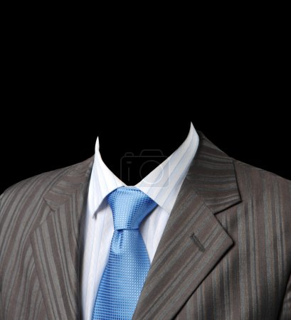 Business suit jacket, shirt and tie