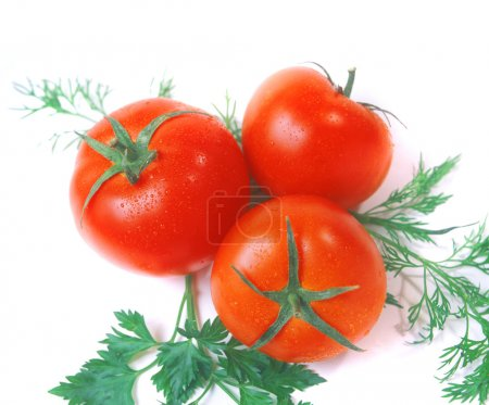Photo for Tomatoes isolated on white - Royalty Free Image