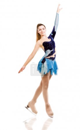 Photo for Figure skater posing in skating performance costume - Royalty Free Image