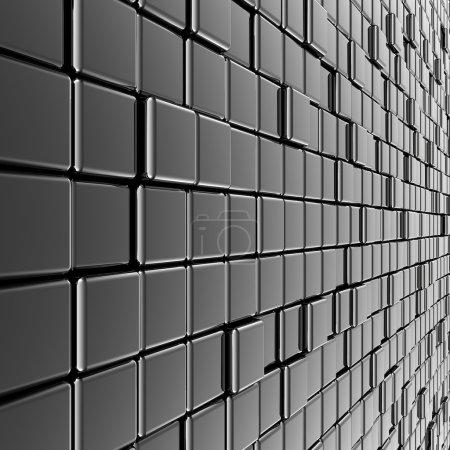Silver metal wall