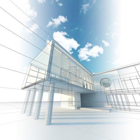 Photo pour Architecture de la construction. ma conception, modèle et les textures - image libre de droit