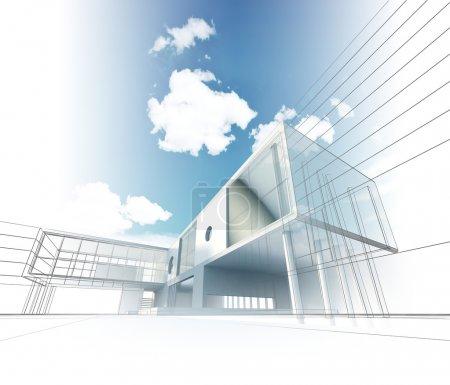 Photo pour L'architecture. Mon design, modèle et textures - image libre de droit