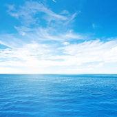 Cloudy sky and sea