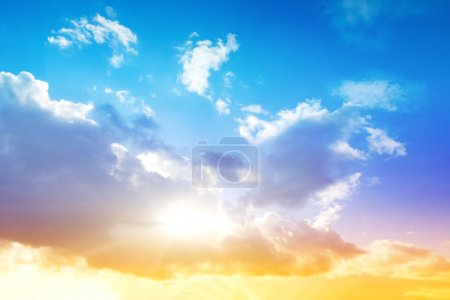 Photo for Colorful sky and sunrise. Natural landscape - Royalty Free Image