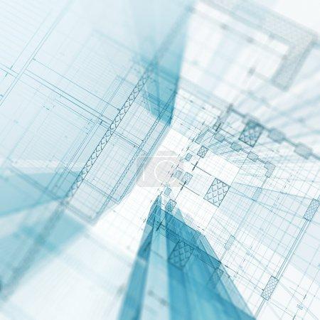 Foto de Plano. Mi diseño y modelo 3d - Imagen libre de derechos