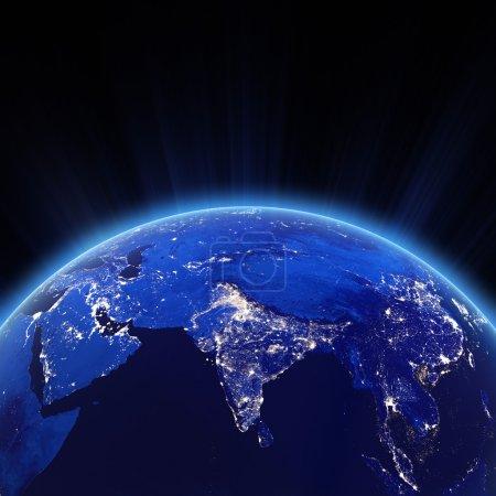 India city lights at night