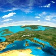 Europe landscape from space. Elements of this imag...