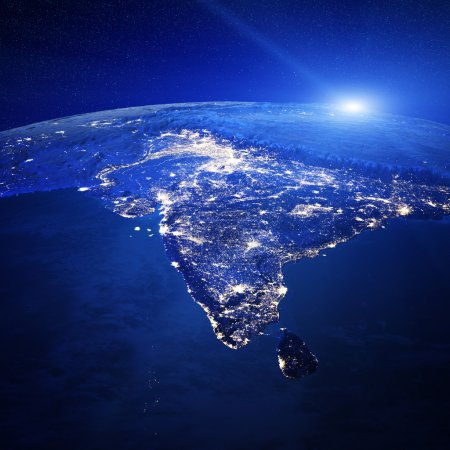 India city lights