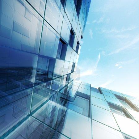 Photo pour Concept extérieur. Conception du bâtiment et modèle 3D le mien - image libre de droit