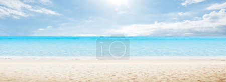 Photo for Sea morning panorama. Tropical horizontal composition - Royalty Free Image
