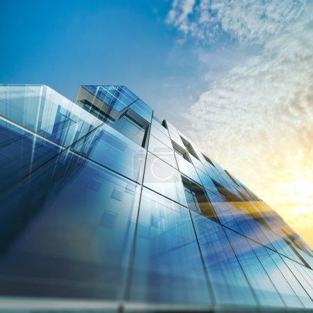 Photo pour Architecture abstraite. Conception du bâtiment et modèle 3D le mien - image libre de droit