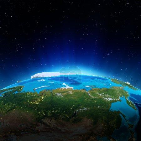 Photo pour Russie - Sibérie. éléments de cette image fournie par la nasa - image libre de droit