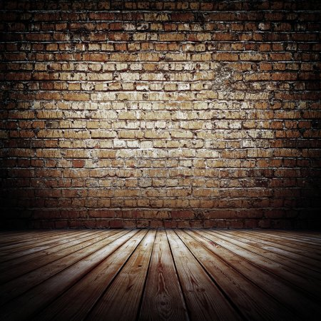 Photo pour Mur de briques. Vieux rugueux intérieur - image libre de droit