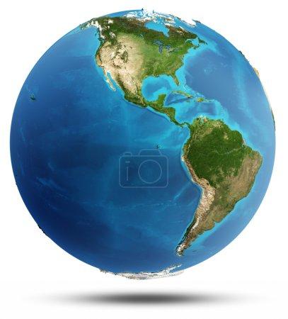 Photo pour Véritables allégements d'Amérique et de l'eau. éléments de cette image fournie par la nasa - image libre de droit
