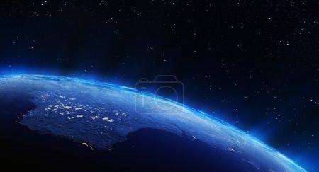 Photo pour Lumières de ville d'Australie. Éléments de cette image fournie par la Nasa - image libre de droit