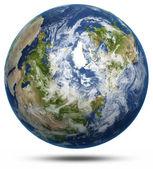 Země - polární bílá, samostatný