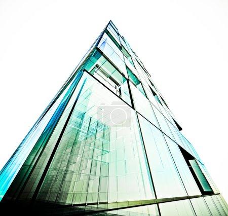 Futuristic building white isolated