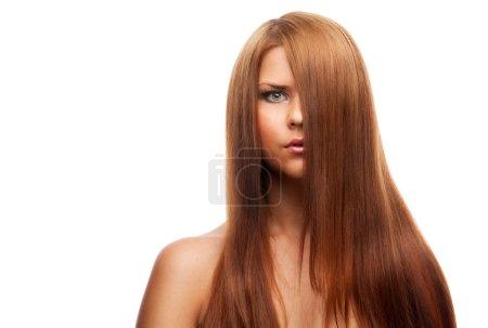 Photo pour Femme avec les cheveux longs - image libre de droit