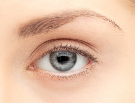 Photo pour Macro image de l'œil humain - image libre de droit