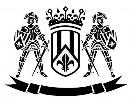 сoat of arms with knights