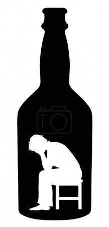 Illustration pour Alcoolisme - image libre de droit