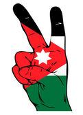 Peace Sign of the Jordan flag