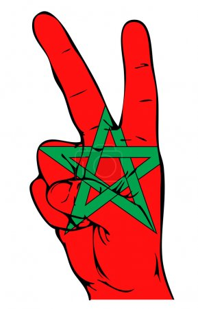 Peace Sign of the Moroccan flag
