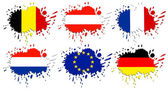 Flags of Europe as spots