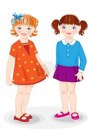 Cartoon stylish girls