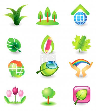 Set of nature vector icons
