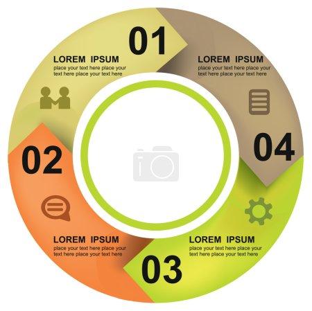 Illustration pour Bannière moderne d'options de cercle d'affaires. Illustration vectorielle - image libre de droit