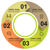 Modern business circle options banner Vector illustration