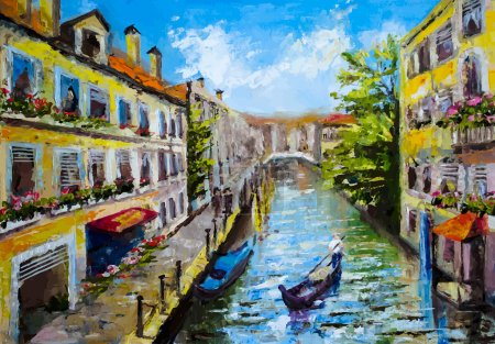 Illustration for Venice, Italy - oil painting style - Royalty Free Image