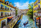 Venice Italy - oil painting style