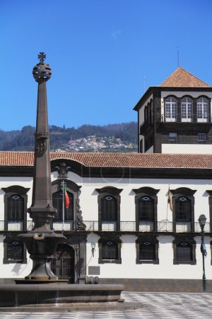 The main square in the city of Funchal