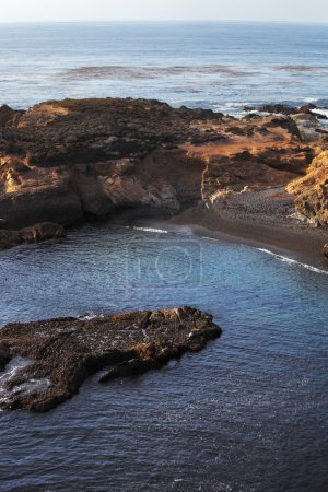 The warm lagoon in the Reserve Point Lobos