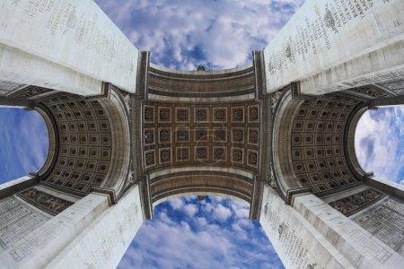 Spectacular angle Arc de Triomphe
