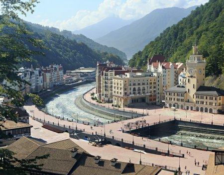 Rosa Khutor Alpine Resort in Krasnaya Polyana.