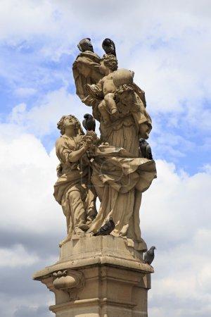 Statue of St. Anne. Charles Bridge in Prague.