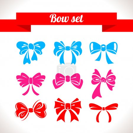Illustration for Bow set - Royalty Free Image