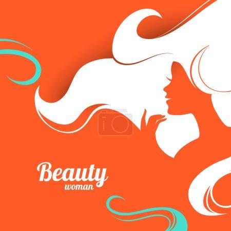 Illustration pour Belle silhouette de femme de mode. Conception du papier - image libre de droit