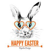 Hipster Easter rabbit