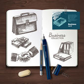 Design template and hand drawn sketch business illustrations for graphic designers presentations and portfolios